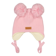 Gugguu: Double tuft hat with ear flaps, Crystal rose