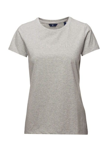Gant: Gant 1949  C-Neck SS T-Shirt, Cloud Grey/Melange