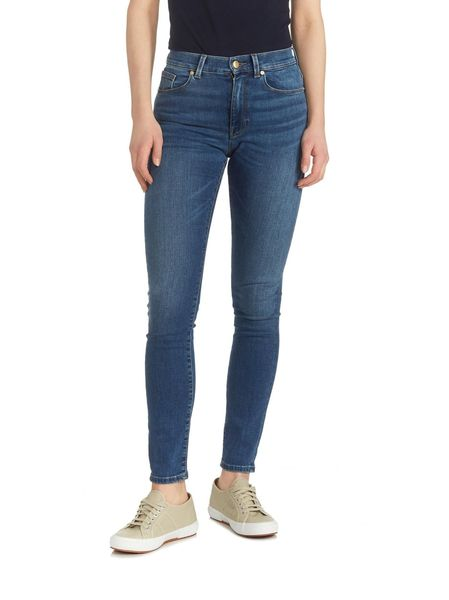 Gant: Skinny super stretch jeans, Semi light indigo worn in