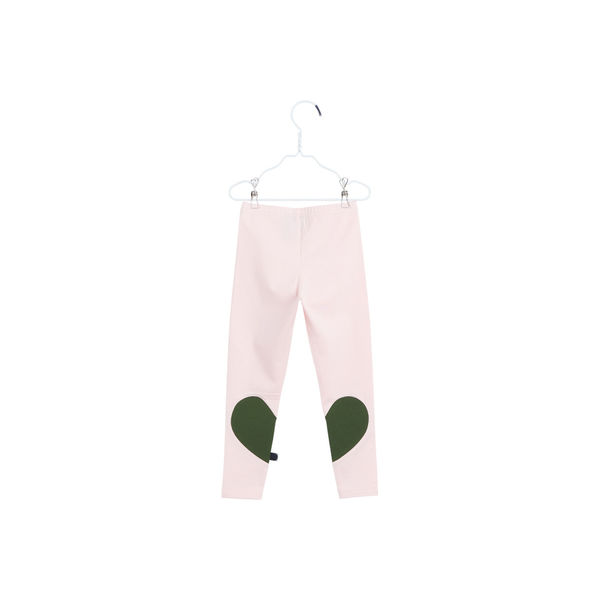 Papu: Heart leggings, Heather pink/Ever green