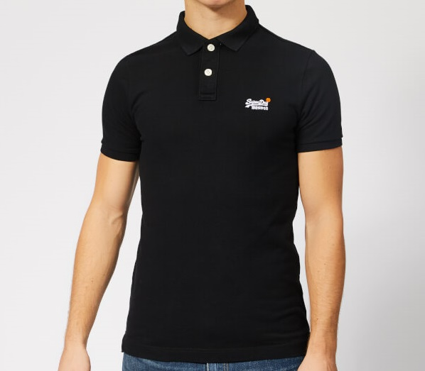 Superdry: Classic pique s/s polo, Black