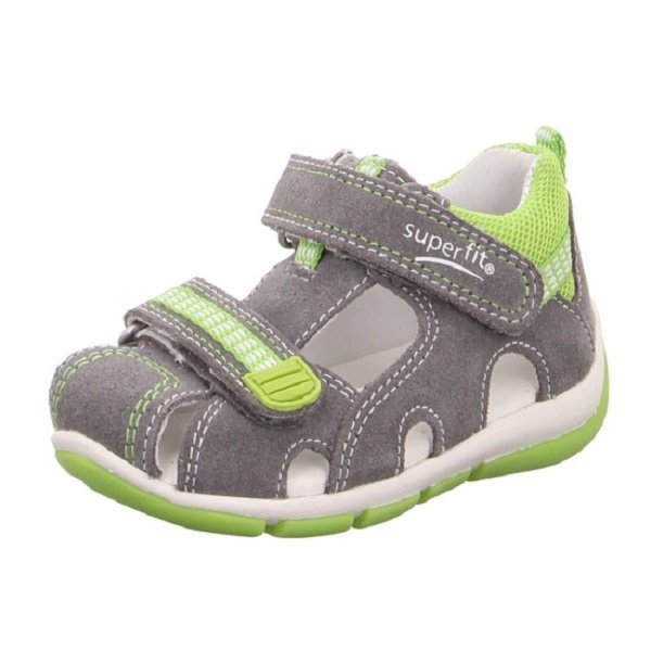 Superfit: Suede/Textile, Light grey/Light green