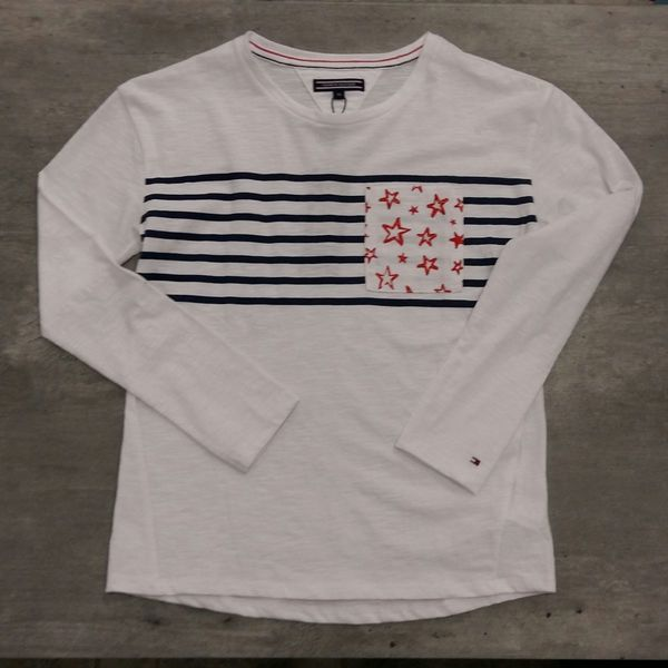 Tommy Hilfiger: Ame girls star cn knit L/S, White