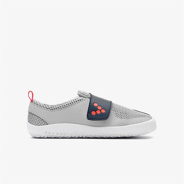 Vivobarefoot: Primus kids, Grey/Navy/Orange